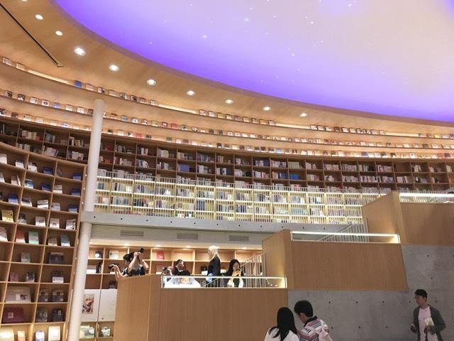 Shanghai, Nice high ceiling room in book store