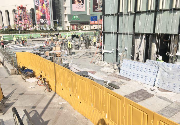 【上海】浦東の大都会の建設工事