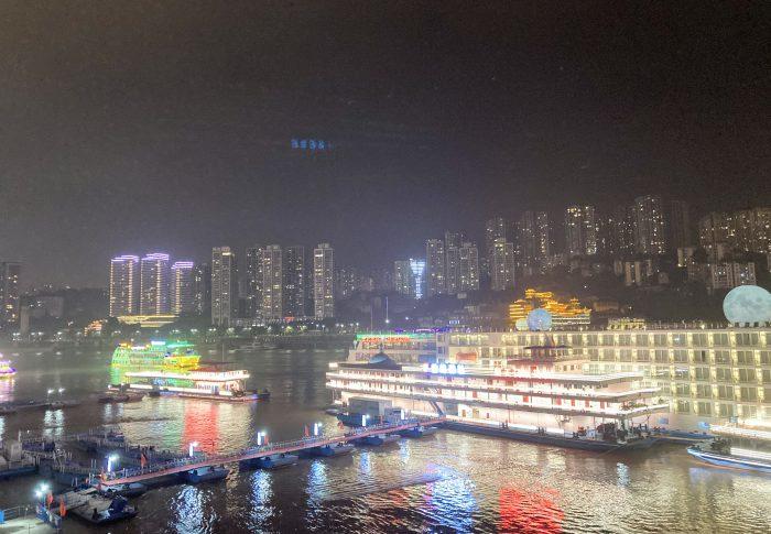 【2020年10月重慶】「两江游」、ド派手なライトアップを遊覧船から眺める