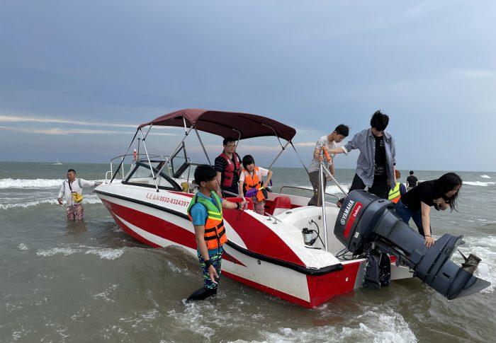 【2021年5月広東省-茂名】中国第一ビーチ!ジェットボートを堪能、海鮮料理も食べられる