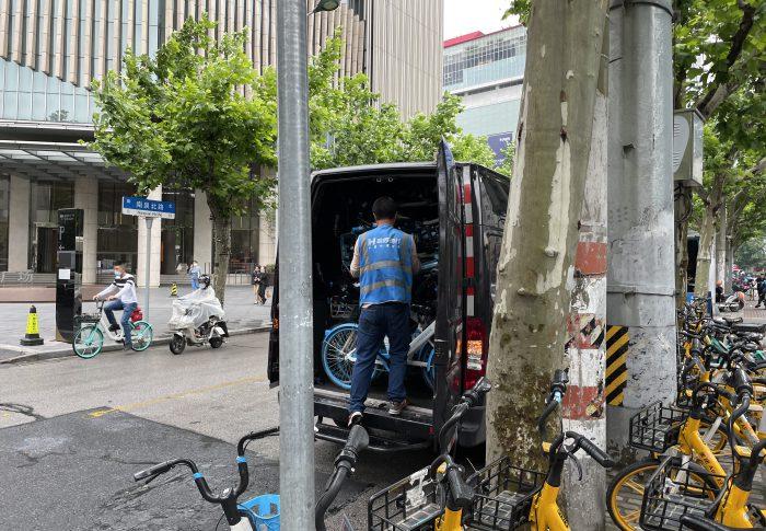 【2021年5月上海】自転車シェアリングのバイク回収現場を目撃